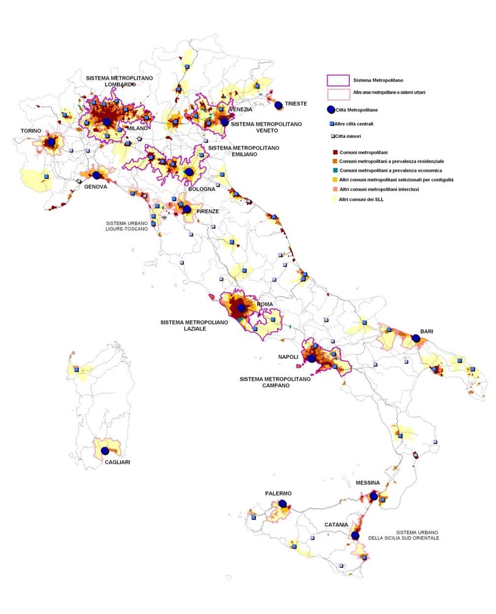 Post metropoli un atlante dei processi di trasformazione for Metropoli in italia